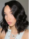 Nice Shoulder Length Water Wave Lace Front Remy Human Hair Wig amab193