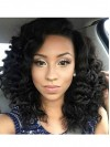 Elegant Long Yaki Curly Lace Front Remy Human Hair Wig amab201
