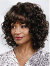 Ideal Shoulder Length Deep Curly Capless Synthetic Wig amab212