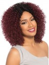 Perfect Shoulder Length Yaki Curly Capless Synthetic Wig amab217