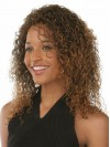 Top Quality Medium Length Deep Curly Synthetic Wig