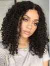 Center Part Kinky Curly Synthetic Hair For Round Face