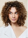 Mid-Length Kinky Curly Lace Synthetic Hair Wigs
