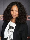 Thandie Newton Smooth Polished Kinkly Curly Synthetic Wigs