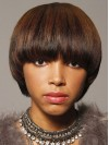 Pretty Young Short Straight Bob Synthetic Wigs for Black Women