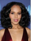 Kerry Washington Loose Wave Blunt Center Part African American Wigs