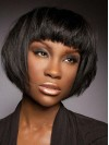 African American Short Bob With Bangs amab372