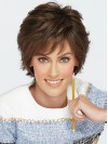 Short Natural Wavy Boycuts Capless Synthetic Wigs amac002