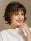 Short Water Wavy Layered Capless Synthetic Wigs amac009