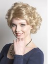 Chin Length Water Wavy Bobs Capless Synthetic Wigs amac013