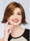 Chin Length Straight Bobs Capless Synthetic Wigs amac019