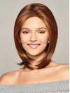 Chin Length Straight Bobs Lace Front Synthetic Wigs amac024