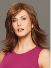 Shoulder Length Straight Layered Capless Synthetic Wigs amac039