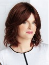 Chin Length Water Wavy Without Bangs Capless Synthetic Wigs amac042