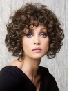 Chin Length Deep Curly Bobs Capless Synthetic Wigs amac047