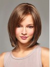Chin Length Straight Bobs Capless Synthetic Wigs amac048