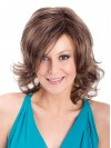 Shoulder Length Natural Wavy Layered Capless Synthetic Wigs amac049
