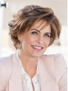 Short Natural Wavy Bobs Lace Front Synthetic Wigs amac050