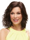 Shoulder Length Natural Wavy Lace Front Synthetic Wigs amac053