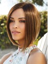 Chin Length Straight Bobs Capless Synthetic Wigs amac058