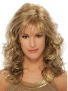 Long Voluman Water Wave Synthetic Wigs With Full Bangs amac067