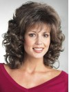 Shoulder Length Deep Curly Synthetic Wigs With Full Bangs amac068