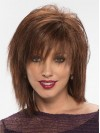 Chin Length Layered Cut Straight Synthetic Wigs With Full Bangs amac069