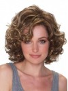 Chin Length Deep Curly Volumn Synthetic Wigs For Ladies amac073