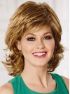 Chin Length Losse Layered Water Wave Top Sell Synthetic Wigs amac075