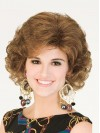 Most Popular Chin Length Volumn Deep Curly Synthetic Wigs amac083
