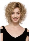Chin Length Layered Deep Curly High Quality Synthetic Wigs amac091