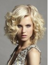 New Shoulder Length Deep Wave Capless Synthetic Wig amac1711007