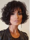 Comfortable Chin Length Deep Curly Capless Synthetic Wig amac1711008