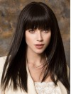 Best Lace Front Straight Style Black Color Wigs amad006