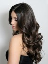 Remy Human Hand Tied Wavy Human Hair Topper Wigs amad075