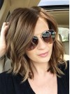 Long Wavy Layered Brown Soft Hand Tied Wigs amad084