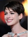 Remy Human Boycuts Capless Cropped Brown Anne Hathaway Wigs amae011
