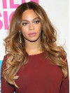 Blonde Long Wavy Without Bangs Full Lace Beyonce Wigs amae045
