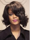 Affordable Brown Wavy Capless Rihanna Wigs amae050