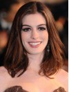 Auburn Straight Without Bangs Capless Anne Hathaway Wigs amae073
