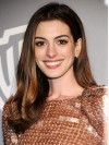 Brown Long Straight Without Bangs Anne Hathaway Wigs amae095