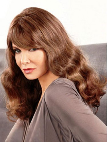 Long Wavy With Bangs Brown Hairstyles Jaclyn Smith Wigs, Long Wigs ...