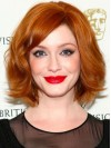 Bobs Chin Length Copper Wavy Sassy Christina Hendricks Wigs amae132