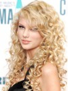 Hand Tied Curly Long Blonde Stylish Taylor Swift Wigs amae135