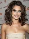 Brown Wavy Shoulder Length Without Bangs Cheryl Cole Wigs amae150