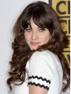 Perfect Brown Long Curly With Bangs Zooey Deschanel Wigs amae155