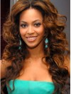 Beyonce Long Water Wave Full Lace Remy Human Hair Wigs amae162