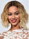Beyonce Medium Water Wave Lace Front Remy Human Hair Wigs amae166