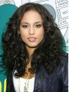 Alicia Keys Long Deep Curly Lace Front Remy Human Hair Wigs amae182