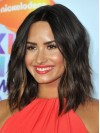 Demi Lovato Water Wave Lace Front Remy Human Hair Wigs amae209